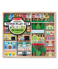 Look what I found on #zulily! Melissa & Doug Wooden Town Play Set #zulilyfinds