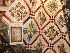 Alderwood Quilts: Edyta Sitar and Laundry Basket Quilts Sampler Quilts, Star Quilts, Quilt Blocks, Quilting Projects, Quilting Designs, Vogel Quilt, Spool Quilt, Applique Wall Hanging, Laundry Basket Quilts