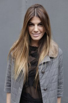 Don't like ombré, but I like her long straight healthy hair!
