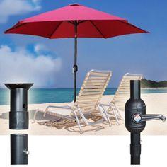 Umbrella-Beach-Folding-Camping-Tilt-9-Aluminum-Picnic-Portable-Outdoor-Burgundy