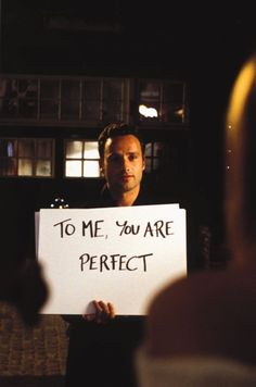 To be mature. (Love Actually)