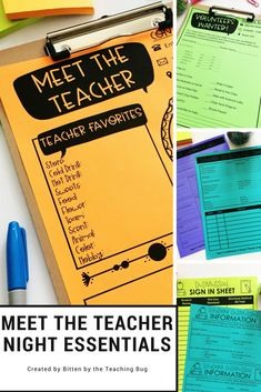 Get organized for meet the teacher night with essential forms to keep your day or night running smoothly as you meet new students! Get meet the teacher forms and must-haves ready to go before the first day of school.