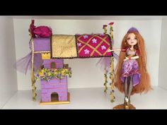 Holly O'Hair Doll Bed Remake [EVER AFTER HIGH] - YouTube