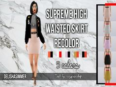 delishasimmer's Supreme High Waisted Skirt Recolor {MESH NEEDED}