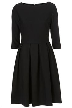 3/4 sleeve ponte midi dress from topshop. still can't resist a simple black dress.