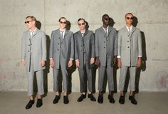 Thom Browne's Fashion Fun House, With Gray Suits - The New York Times