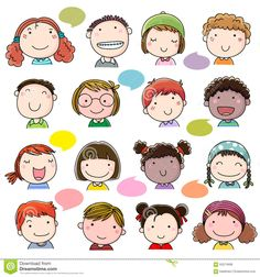 Illustration about Illustration of hand drawn children faces set. Illustration of children, caucasian, girl - 63274908 Cartoon Cartoon, Cute Cartoon Drawings, Drawing Cartoon Characters, Cartoon Drawings Of People, Cartoon Faces, Doodle Drawings, Character Drawing, Drawing People, Easy Drawings