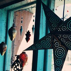 Create a similar look by adding Mexican Tin Star Lighting to you hacienda!  Browse our selection here: http://www.lafuente.com/Lighting/Mexican-Tin-Lighting/Hanging-Stars/