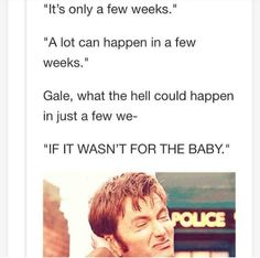 Haha poor Gale! (Excuse the language!)