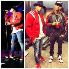 Chris Brown Wears Custom Renowned Jacket, Fendi Fedora, Vie Riche T-Shirt, Red Supreme x Nike AF1 Sneakers | UpscaleHype