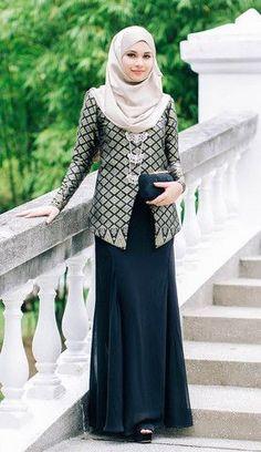 Fashion Arabic Style   Illustration   Description   Hijab Fashion 2016/2017: Jasmine Exclusive Songket Kurung Classy Black | MINIMALACE    – Read More –