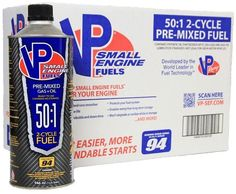 VP Small Engine Fuel 50:1 2-Cycle Pre-mixed 94 Octane Ethanol Free (8-Pack)  #VP