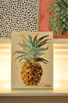 Brooke Eagle Original Pineapple Painting #4