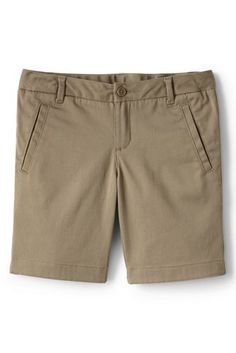 Girls+Stretch+Chino+Bermuda+Shorts+from+Lands'+End