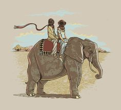 In Pachydermic Fashion Art Print by Michael B. Myers Jr. | Society6 #art  #design  #print  #poster  #color  #cool  #gift  #gifts  #hipster  #funny  #Illustration  #threadless  #drawing  #draw  #beautiful #humor