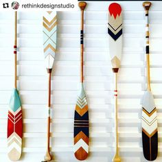 handcrafted | these beautifully hand painted paddles
