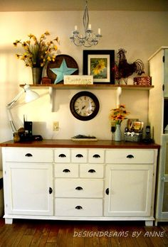 Ikea Hack - Creating an antique look with Chalk Paint - I'm renovating the kitchen in my 1930s home. I have a sideboard from Ikea that I love but that just wasn…
