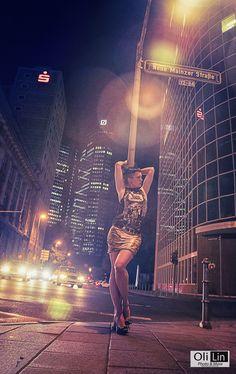 Nightshift with Anna #night #nightshift #woman #street #dark #shooting #portrait
