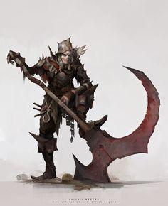 Executioner – fantasy/horror character concept by Valeriy Vegera