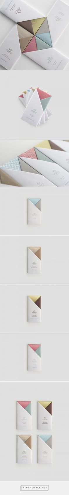 A Lovely Chocolate Bar that's Packaged with Origami resembles to the sails of a ship, easy to unfold. / Designed by Lavernia & Cienfuegos