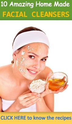 10 Amazing Homemade Facial Cleanser Recipes to rejuvenate your skin naturally ! Read the recipes on this link - http://www.feminiya.com/10-amazing-homemade-facial-cleanser-recipes/