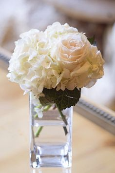 Beautiful. I love the simplicity, I love the hydrangeas.