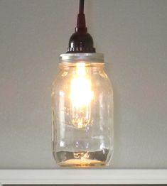 Mason Jar Pendant Light  Lighting Rustic lighting