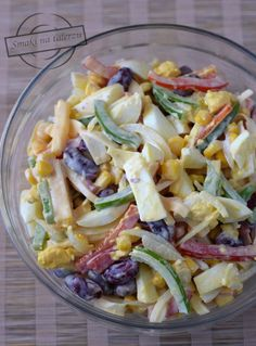 Pasta Salad, Salad Recipes, Catering, Cabbage, Food And Drink, Menu, Cooking Recipes, Homemade, Vegetables