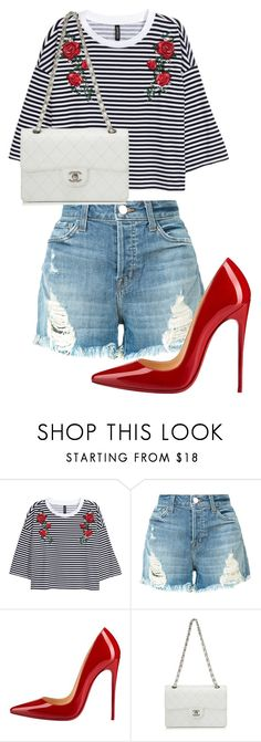 """Untitled #179"" by mayaroger ❤ liked on Polyvore featuring J Brand, Christian Louboutin and Chanel"