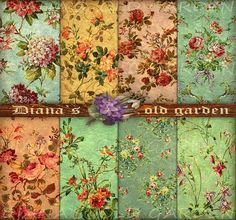 French Decoupage Flowers | Decoupage paper. French Floral Digital Paper. by DianaGarden, $4.50