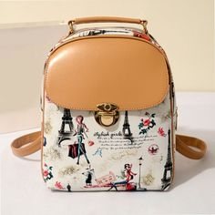 Cool! College Casual Floral Cute Bear Eiffel Tower Pattern School Travel Backpack just $33.99 from ByGoods.com! I can't wait to get it!