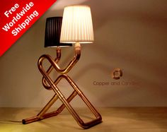 Copper lamp Industrial steampunk copper by CopperAndCandles, $375.00
