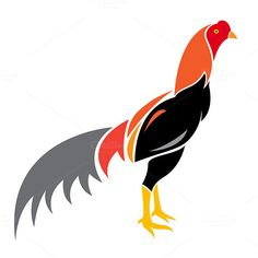 Best Vector image of an cock - Fonts, Graphics, Themes, Templates. Indian Art Paintings, Easy Paintings, Arte Do Galo, Rooster Illustration, Bird Silhouette Art, Rooster Tattoo, Parrot Drawing, Web Design Icon, Joker Images