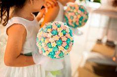 Casamento DIY: Buquê de Marshmallow para Daminha!