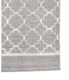 Gray. Large rug in woven cotton fabric with a printed pattern at front.