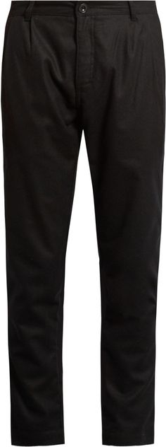 ÉTUDES Archives mid-rise tapered-leg wool-blend trousers