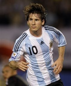My footballer says he's got the messi hair today, tomorrow, the moves.