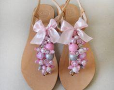 Zapatos de Novia de Marmade  cuero sandalias decoradas con