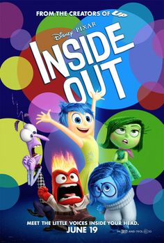 Lewis Black, Bill Hader, Amy Poehler, Phyllis Smith, and Mindy Kaling in Inside Out Amy Poehler, Film Inside Out, Inside Out Poster, Disney Pixar, Disney Films, Walt Disney, Vice Versa Film, Movies To Watch, Cinema