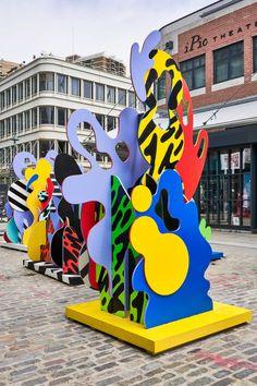 Seaport District Sea Sculptures on Behance Sea Sculpture, Metal Sculptures, Abstract Sculpture, Abstract Art, Urban Poetry, Instalation Art, Renaissance Paintings, Realistic Paintings, Public Art
