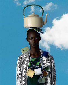 'African Odyssey'. Photographer: Kevin Mackintosh Set designer: Daryl McGregor team up Culled from @saintheron Model- @adau_mornyang —— #Osengwa | #AfricanArt | #AfricanFashion | #AfricanMusic |...