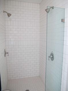 Vertical Subway Tile vertical subway tile installation | vertical shower tile. oh hey