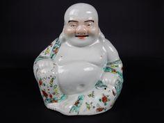 Chinese export famille rose Buddha 9 inches CHINA mark.