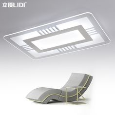 Thin rectangular living room lights LED ceiling lamps square bedroom minimalist modern hall atmosphere acrylic lamp