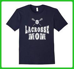 bcc2ccae Mens Lacrosse Mom T-shirt Women Funny Sports Gifts 2XL Navy - Sports shirts  (