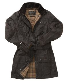 Barbour Ladies Utility Waxed Mac    £229.95  Barbour Ladies Utility Waxed Mac is a contemporary styled, all round mac.The medium weight Sylkoil cotton in a choice of colours is waterproof and windproof and lined with Cotton Modern Tartan. The fitted styling of this mac with shaped body panels is modern and practical. Packed with pockets and features this Wax Jacket looks good in town and performs brilliantly in the country.