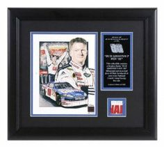 Mounted Memories Dale Earnhardt, Jr. Framed Lithograph w/ Piece of Fire Suit by Mounted Memories. $90.99. An ideal gift for the hard-core fan, this 8-in x 10-in Dale Earnhardt, Jr. lithograph by the up-and coming NASCAR(r) artist Stephen Balok comes double matted and framed along with an actual piece of race-worn fire suit from Dale Earnhardt, Jr. The collectible is officially licensed by NASCAR(r) and comes with a statement of authenticity from Hendrick Motorspor...