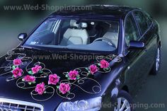 Wedding Car Decoration Burgundy Roses
