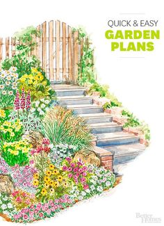 Use our free garden plans and designs to turn your yard into a beautiful place to play, relax, and entertain. Whether you have a large small space or expansive property, these plans will help you create gorgeous gardens you'll love spending time in. Flower Garden Plans, Flower Garden Design, Small Garden Plans, Outdoor Landscaping, Outdoor Gardens, Outdoor Plants, Small Gardens, Indoor Garden, Cottage Garden Plan