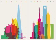 Minimalist Shapes of Cities | Netfloor USA